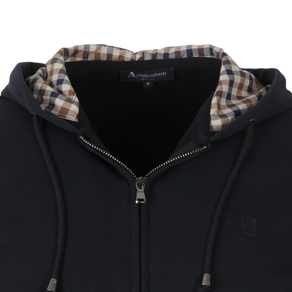 Aquascutum Mens Blue Luther Hoody main image