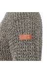 Peregrine Mens Brown Waffle Crew Neck Jumper