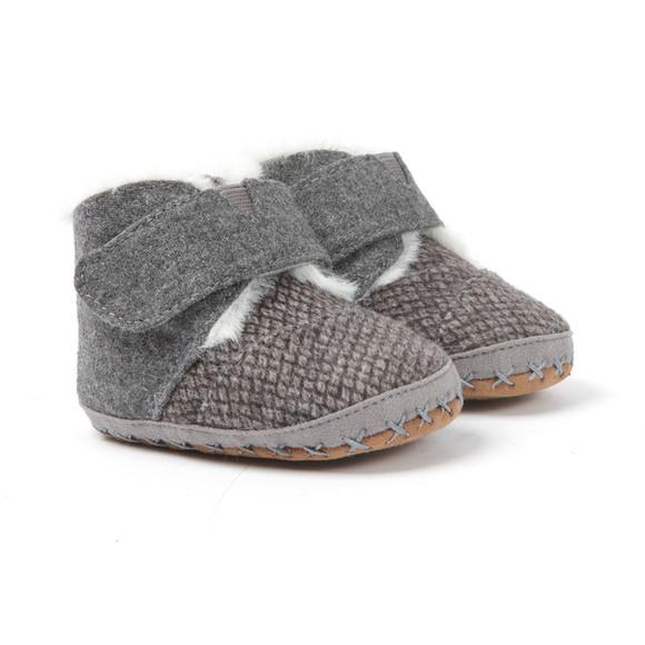 Toms Boys Grey Cuna Felt Tweed First Shoe main image