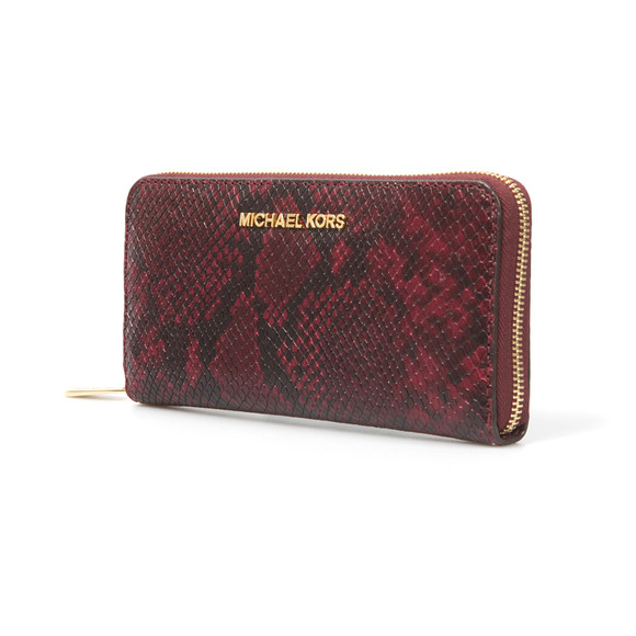 Michael Kors Womens Red Jet Set Zip Purse main image