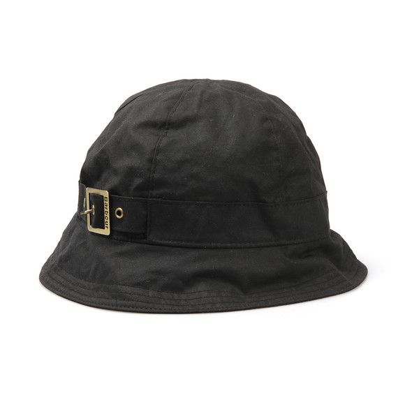 Barbour Lifestyle Womens Black Wax New Trench Hat main image