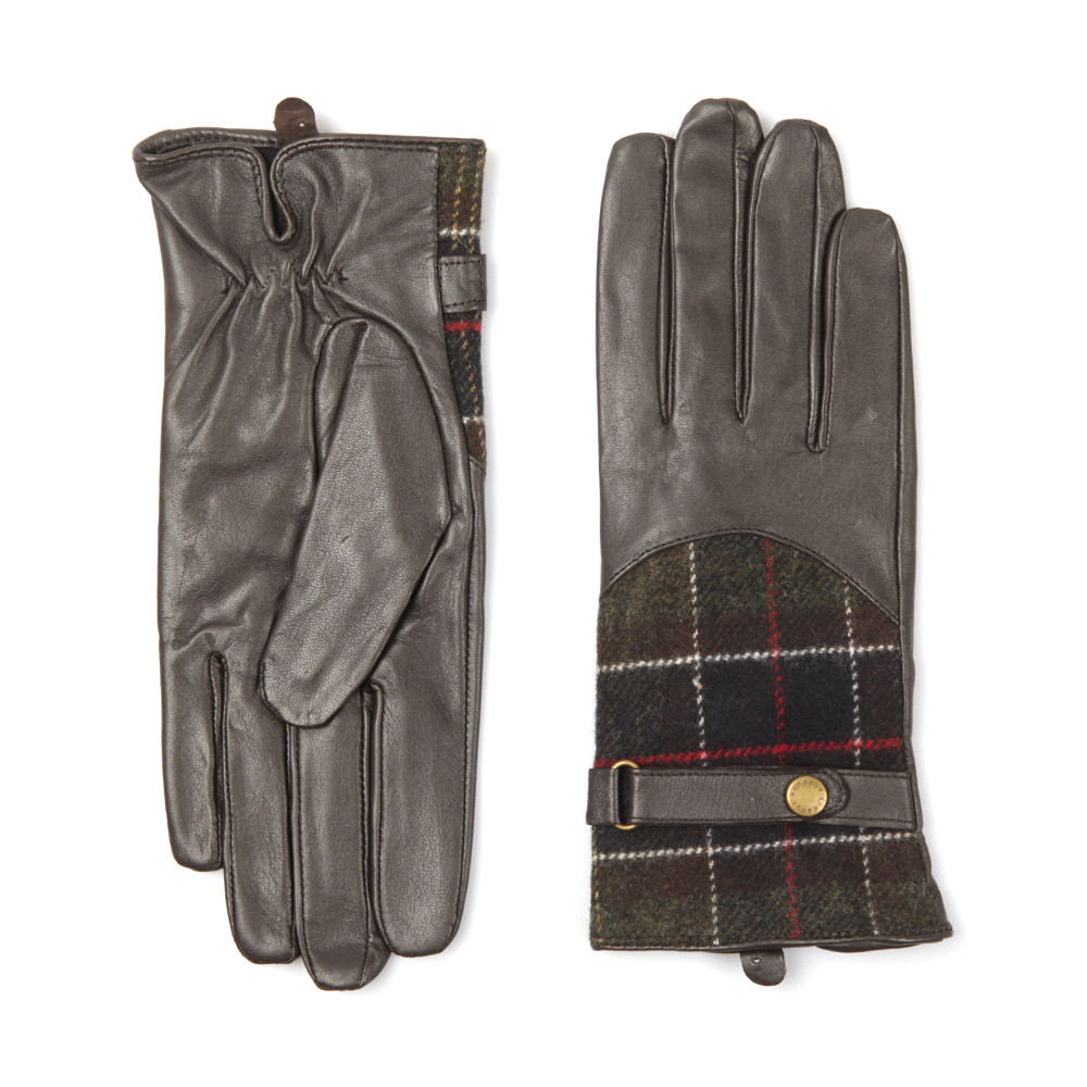 Dee Tartan Leather Glove main image