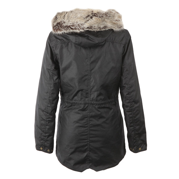 Barbour Lifestyle Womens Black Barbour Kelsall Winter Parka main image