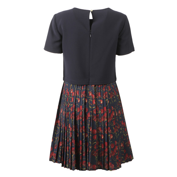 Ted Baker Womens Blue Delorez Cherry Print Pleat Skirt Dress main image