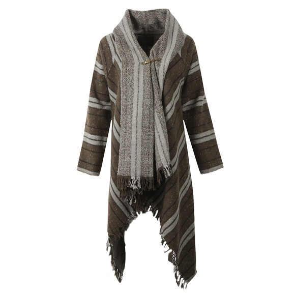 Maison Scotch Womens Grey Warm Wool Blend Poncho main image