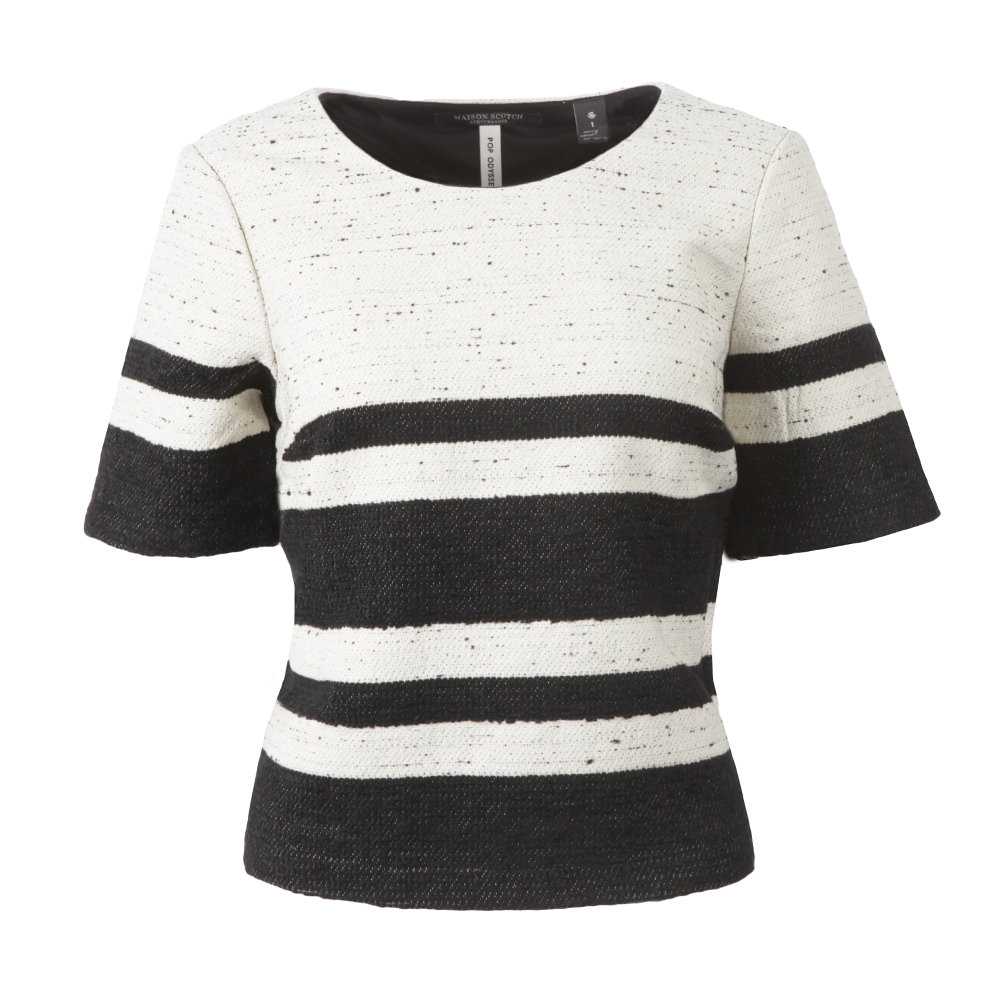 Boxy Fit Top With Stripes main image