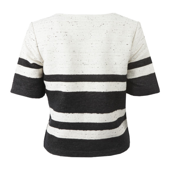 Maison Scotch Womens Black Boxy Fit Top With Stripes main image