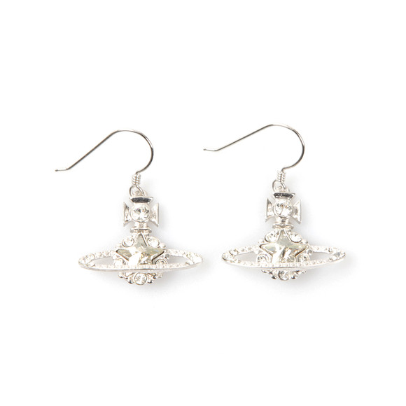 Vivienne Westwood Womens Silver Astrid Drop Earrings main image