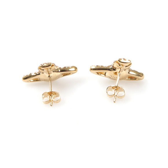 Vivienne Westwood Womens Gold Grace Bas Relief Stud Earring main image