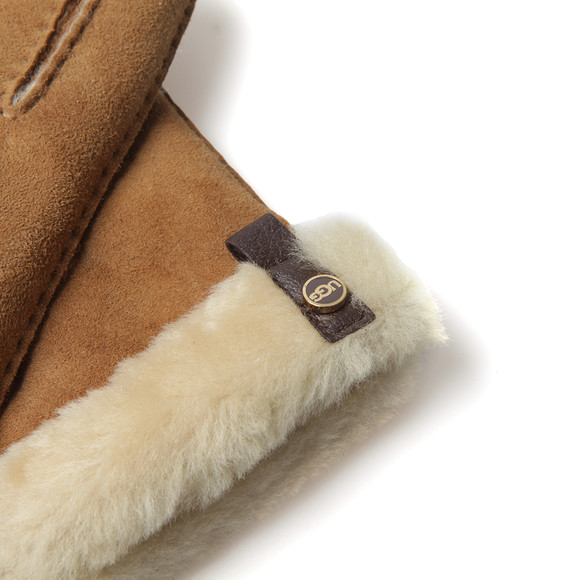 Ugg Womens Brown Tenney Glove With Leather Trim main image