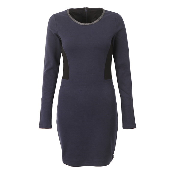 Maison Scotch Womens Blue Fitted Stretch Dress main image