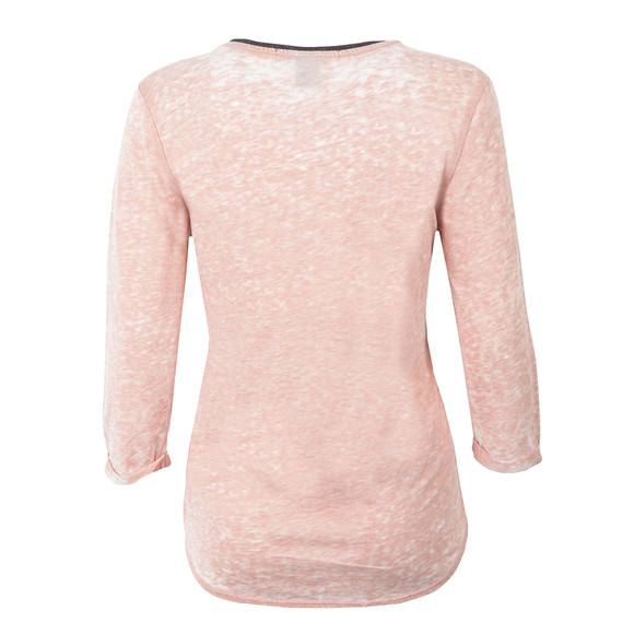 Maison Scotch Womens Pink Photoprinted Burnout Top main image