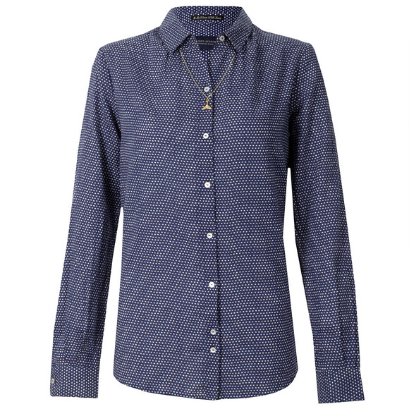 Maison Scotch Womens Blue All Over Printed Woven Shirt main image