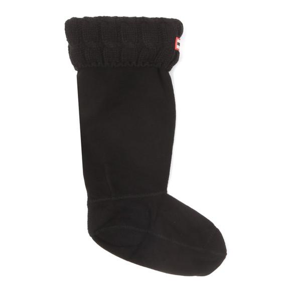 Hunter Womens Black Original Tall 6 Stitch Cable Boot Sock main image