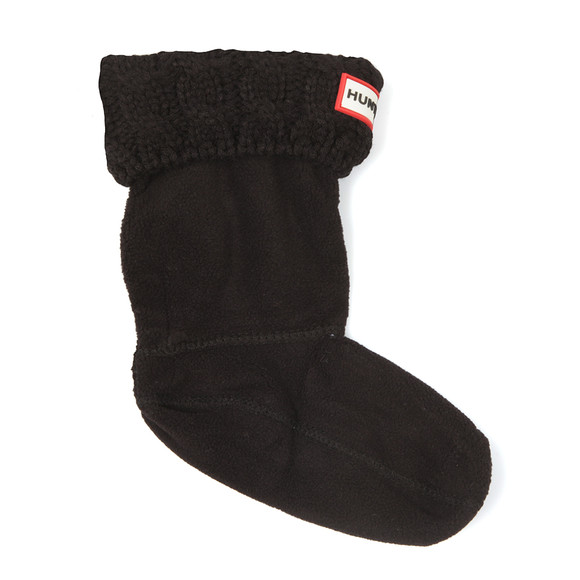 Hunter Unisex Black Original Kids Six Stitch Cable Boot Sock main image