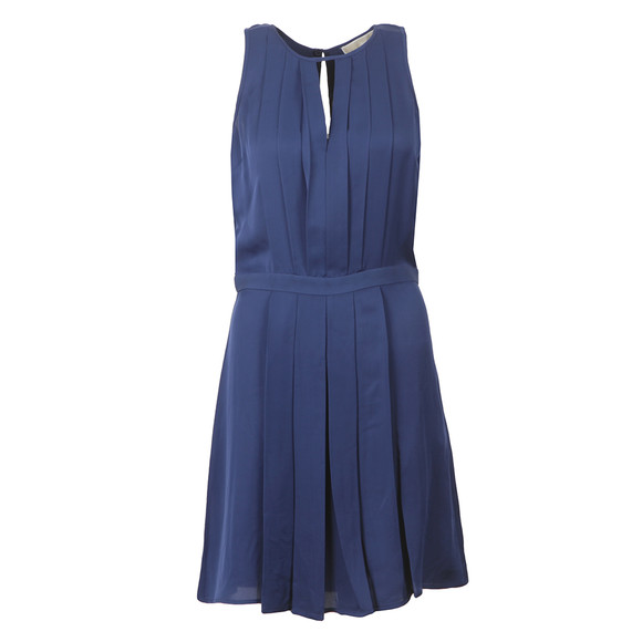 Michael Kors Womens Blue Pleated A Line Dress main image