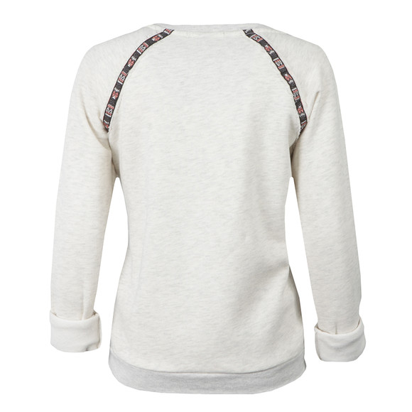 Maison Scotch Womens Grey Crew Neck Sweat With Tape main image