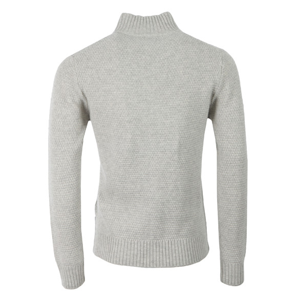 Gant Mens Grey Merino Wool Mock Neck Jumper main image