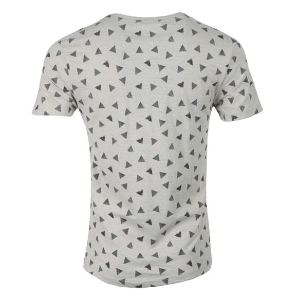 Bellfield Mens Grey AOP Triangle Print T-Shirt main image