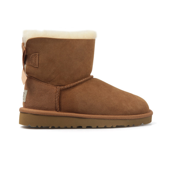 Ugg Girls Brown Kids Mini Bailey Bow  main image