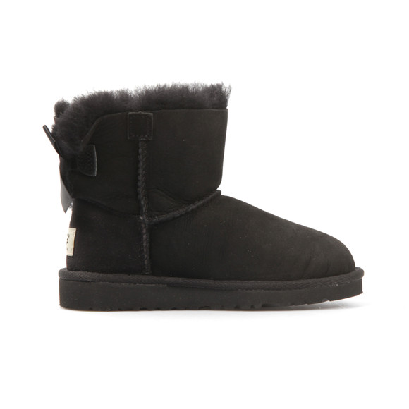 Ugg Girls Black Kids Mini Bailey Bow  main image