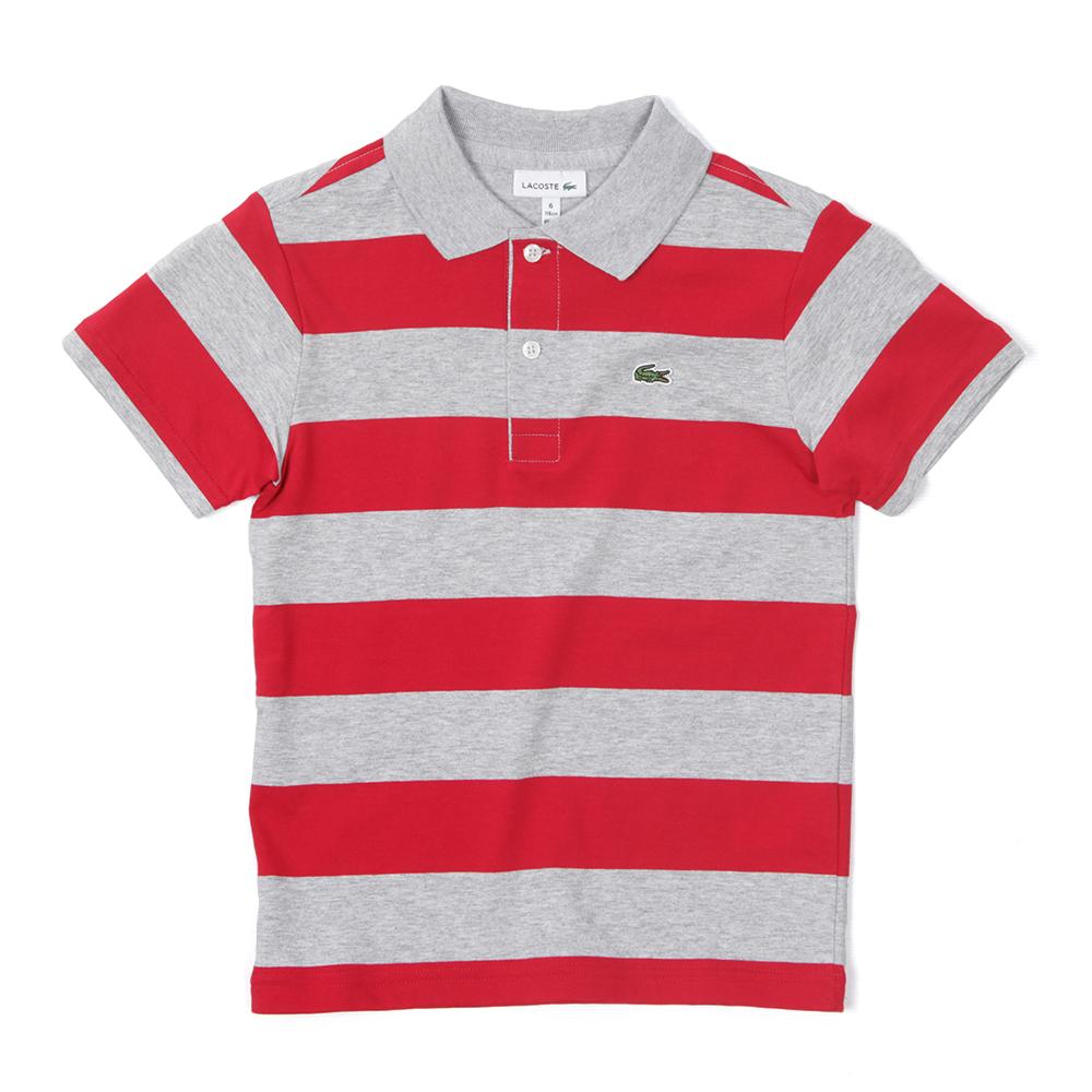 Lacoste boys dj1856 stripe polo shirt oxygen clothing for Boys striped polo shirts