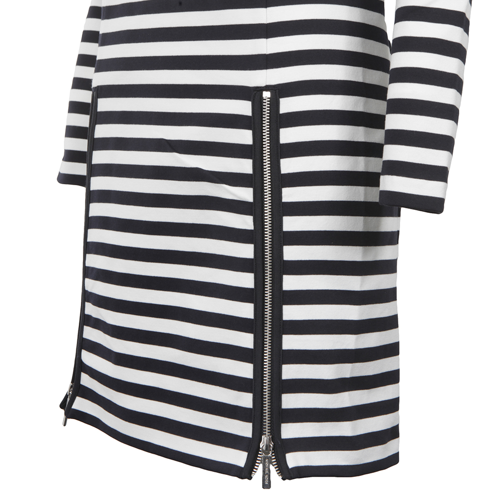 Zip Detail Stripe Dress main image