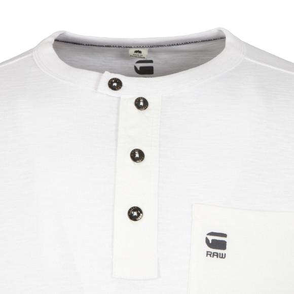 G-Star Mens White Mazuren Slim Grandad Long Sleeve T Shirt main image