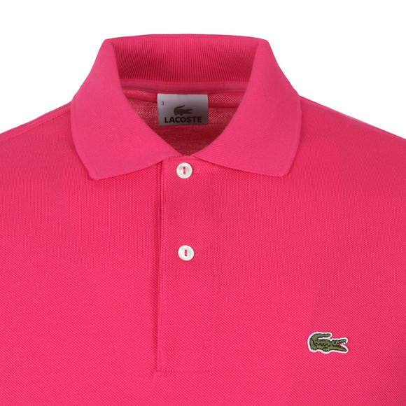 Lacoste L1212 Camellia Pink Plain Polo Shirt | Oxygen Clothing