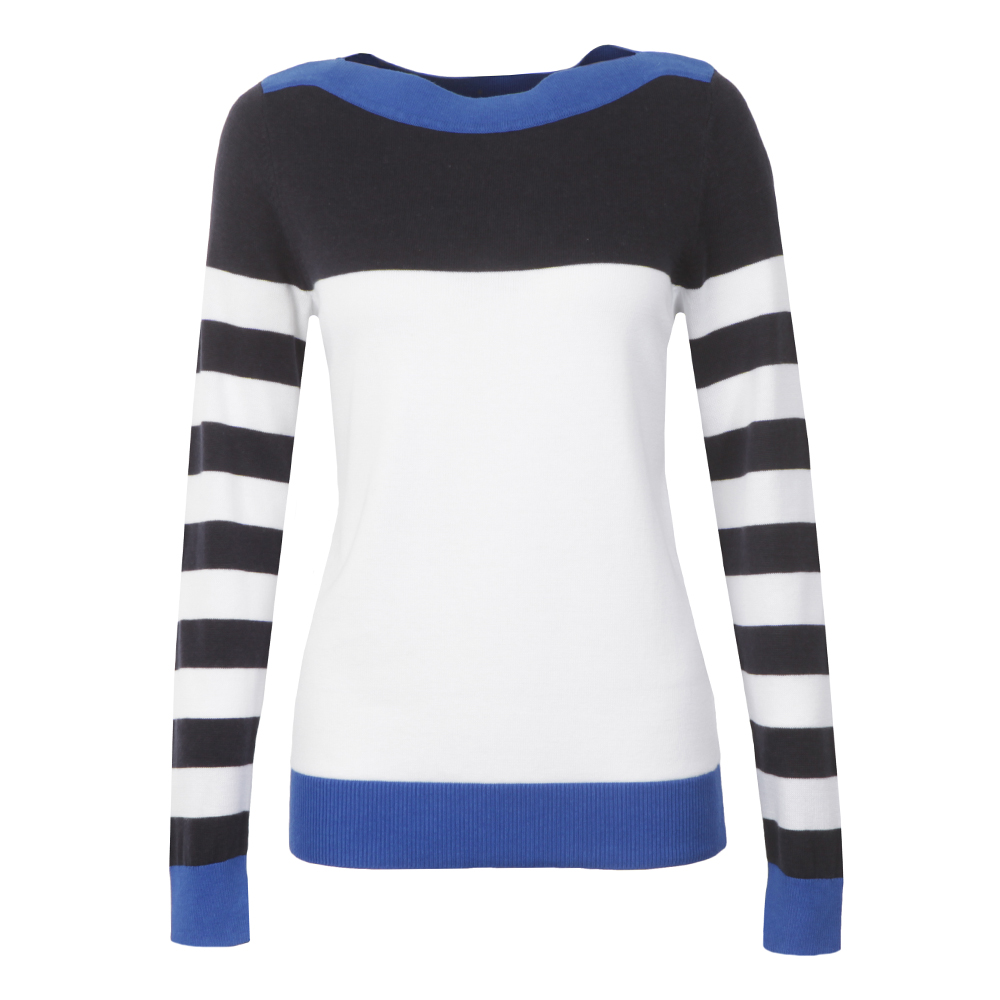Colour Block Wide Neck Jumper main image