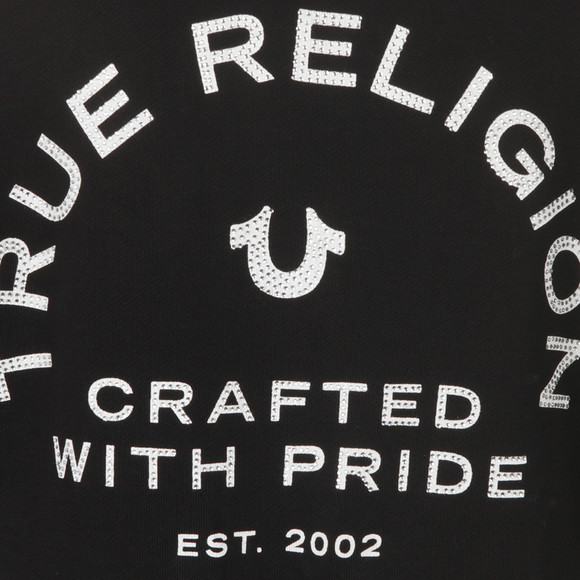 True Religion Womens Black Crafted With Pride Crystal Zip Hoody main image