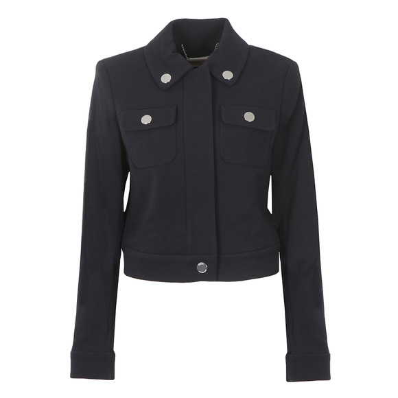 Michael Kors Womens Blue Cropped Snap Jacket main image