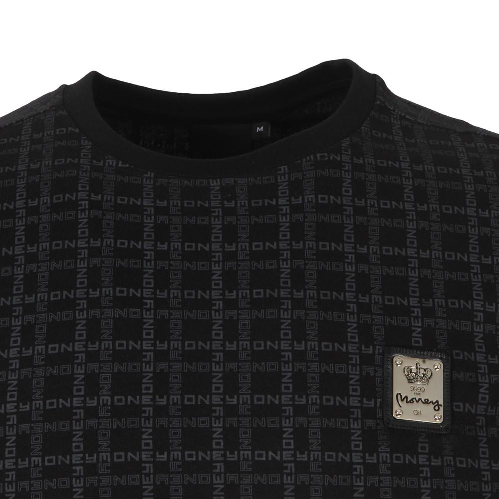 Black Money Grid T Shirt main image