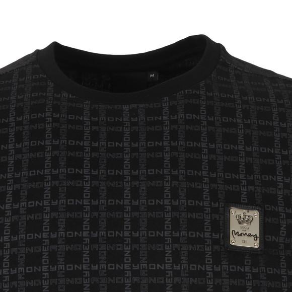 Money Mens Black Black Money Grid T Shirt main image