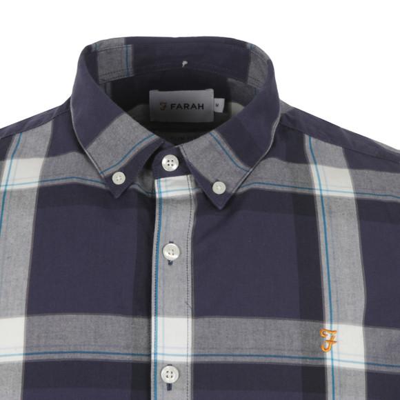 Farah Mens Blue Herne Slim Fit Check Shirt main image