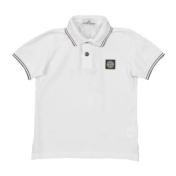Stone Island Junior  Boys White Boys Tipped Polo Shirt main image
