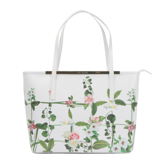 Ted Baker Womens Off-white Tamarah Secret Trellis Xhatch Shopper main image