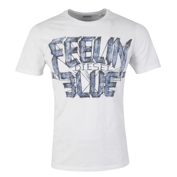 Diesel Mens White Joe AA T Shirt main image