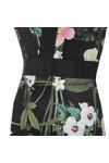 Ted Baker Womens Black Kacied Secret Trellis Elastic Dress