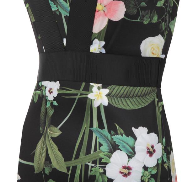 Ted Baker Womens Black Kacied Secret Trellis Elastic Dress main image