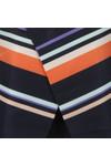 Ted Baker Womens Blue Damica Tribal Stripe Fold Skirt Tunic
