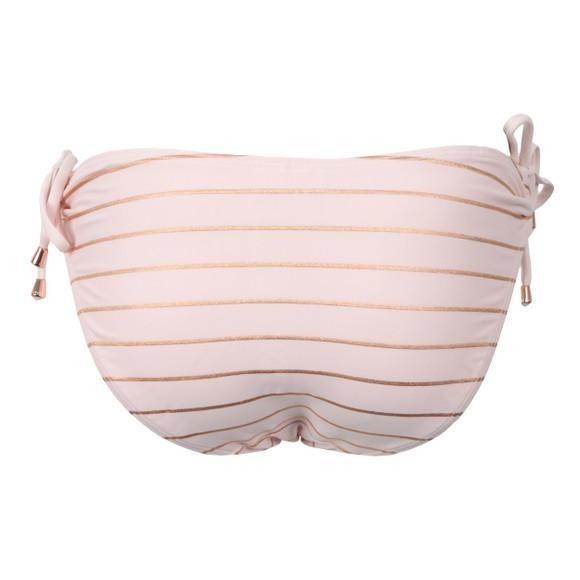 Ted Baker Womens Pink Sarinaa Foil Stripe Bikini Bottom main image