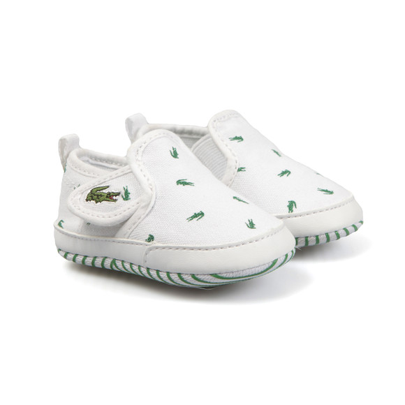 Lacoste Boys White Baby Gazon 116 Trainer main image