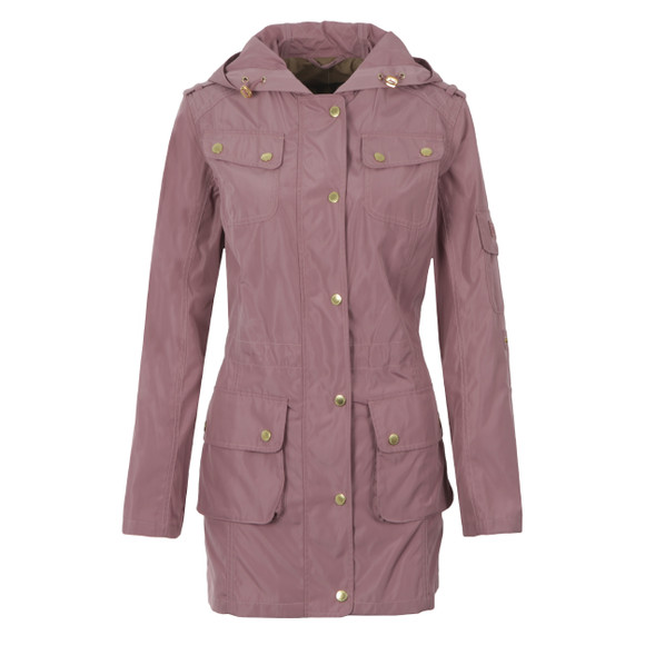 Barbour International Womens Purple Delter Casual Jacket main image