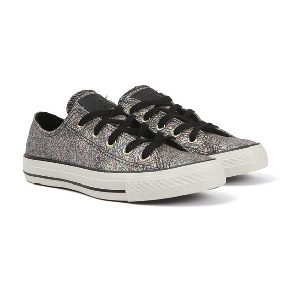 Converse Womens Black Metallic Ox Trainers main image