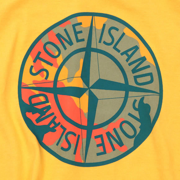 stone island junior camo compass logo t shirt oxygen clothing. Black Bedroom Furniture Sets. Home Design Ideas