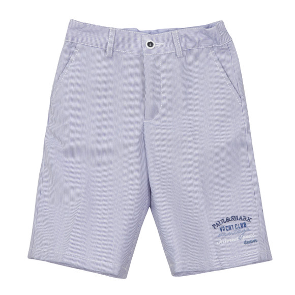 Paul & Shark Cadets Boys Blue Woven Bermuda Shorts main image