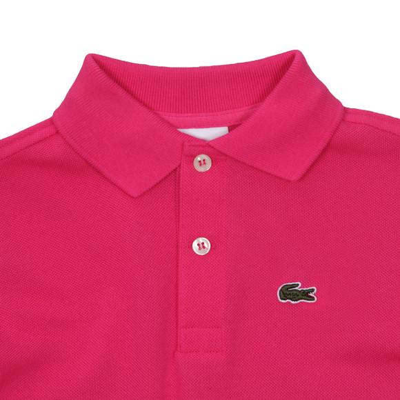 Lacoste Boys Pink Lacoste L1812 Plain Polo main image
