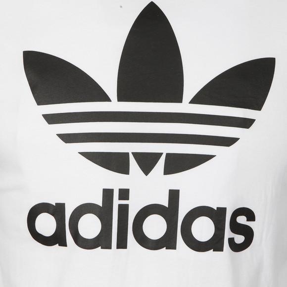 Adidas Originals Mens White Trefoil Tee main image