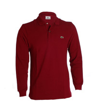 Lacoste L1312 Bordeaux Long Sleeve Polo